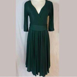 BCBGMaxAzria 3/4 sleeve pleated dress
